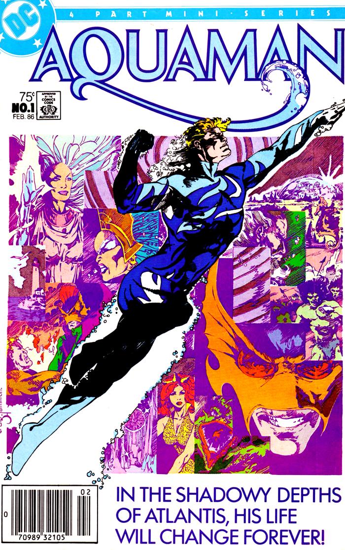Aquaman #1 (1986) cover by Craig Hamilton