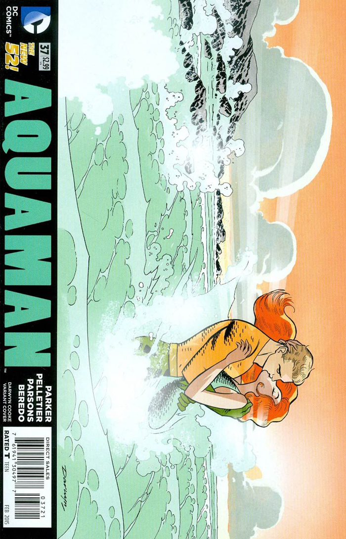 Aquaman #37 (2015) variant cover by Darwyn Cooke