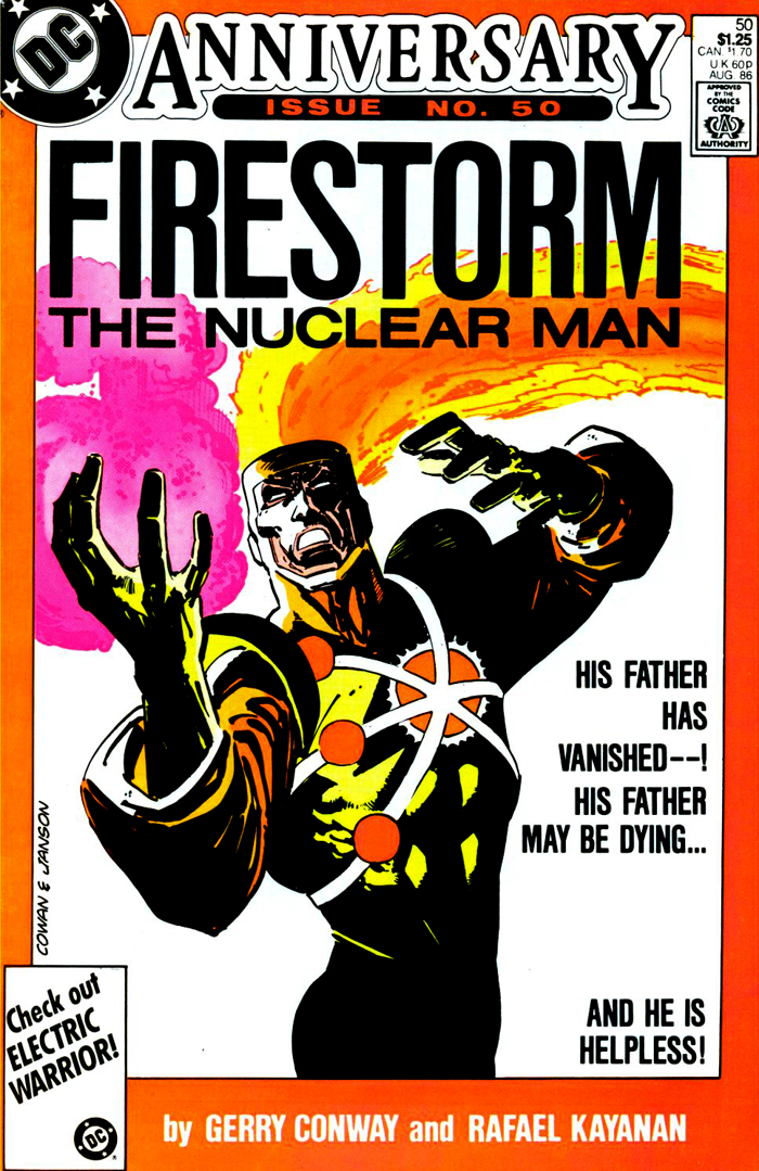 Fury of Firestorm #50 (1986) cover by Denys Cowan and Klaus Janson