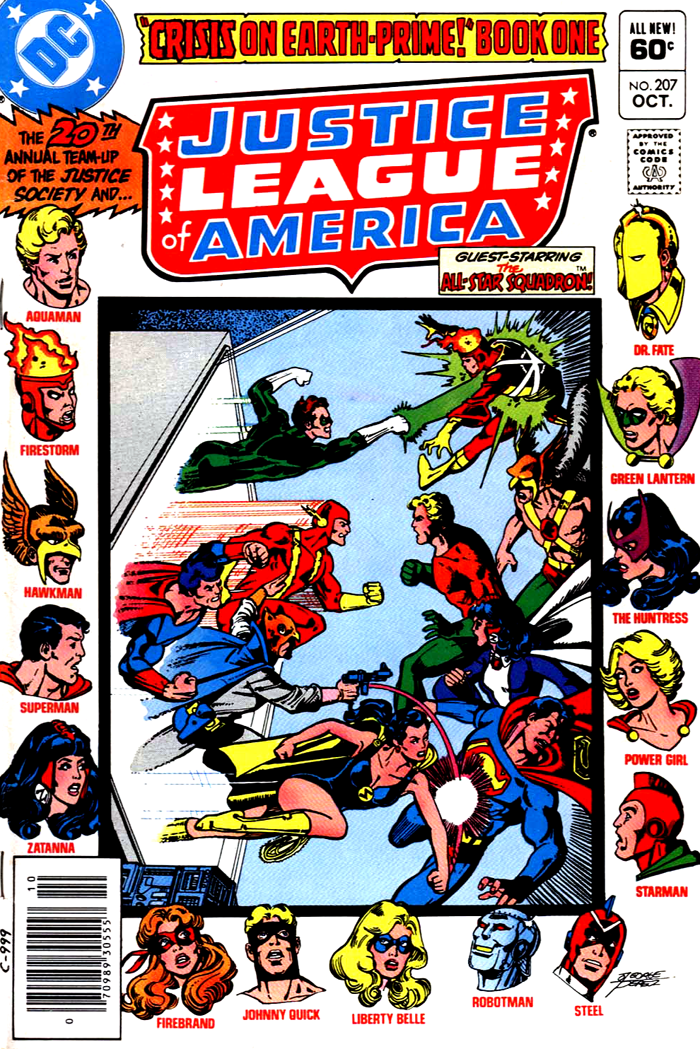 Justice League of America #207 cover by George Perez