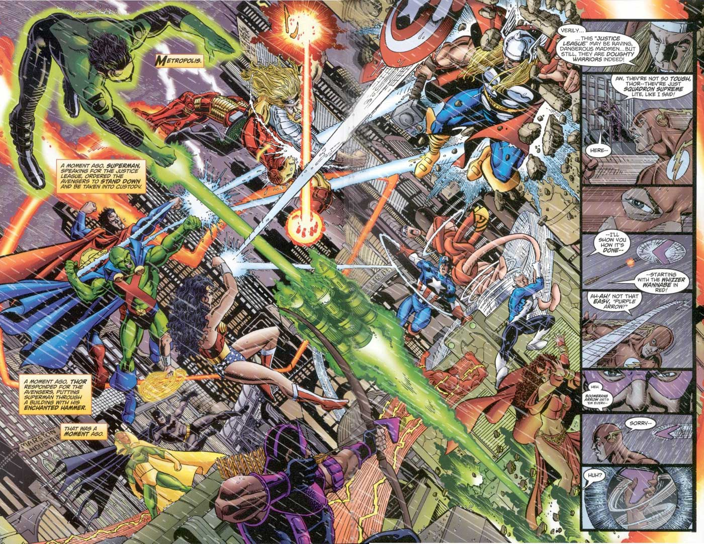 George Perez on JLA/Avengers #2