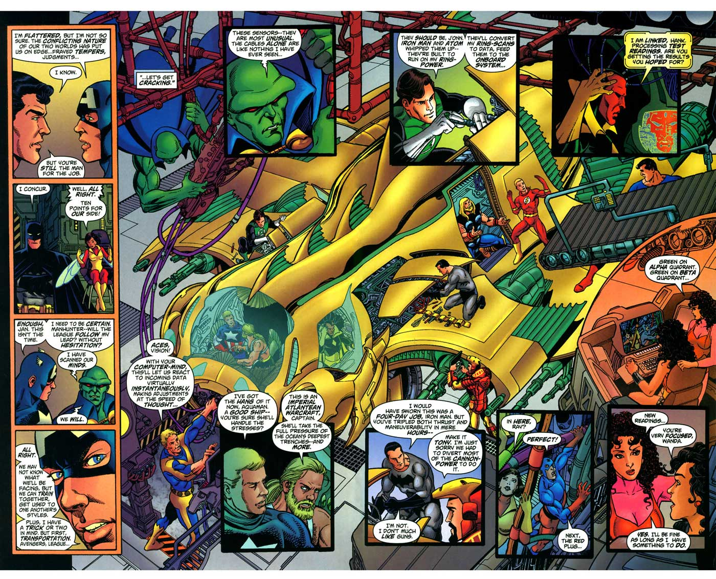 George Perez on JLA/Avengers #4
