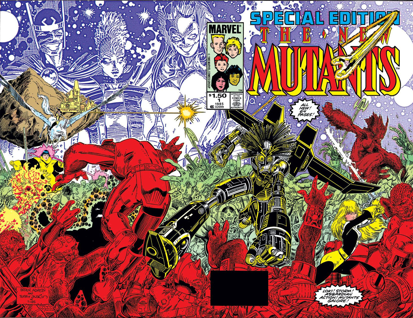 Arthur Adams on New Mutants Special #1