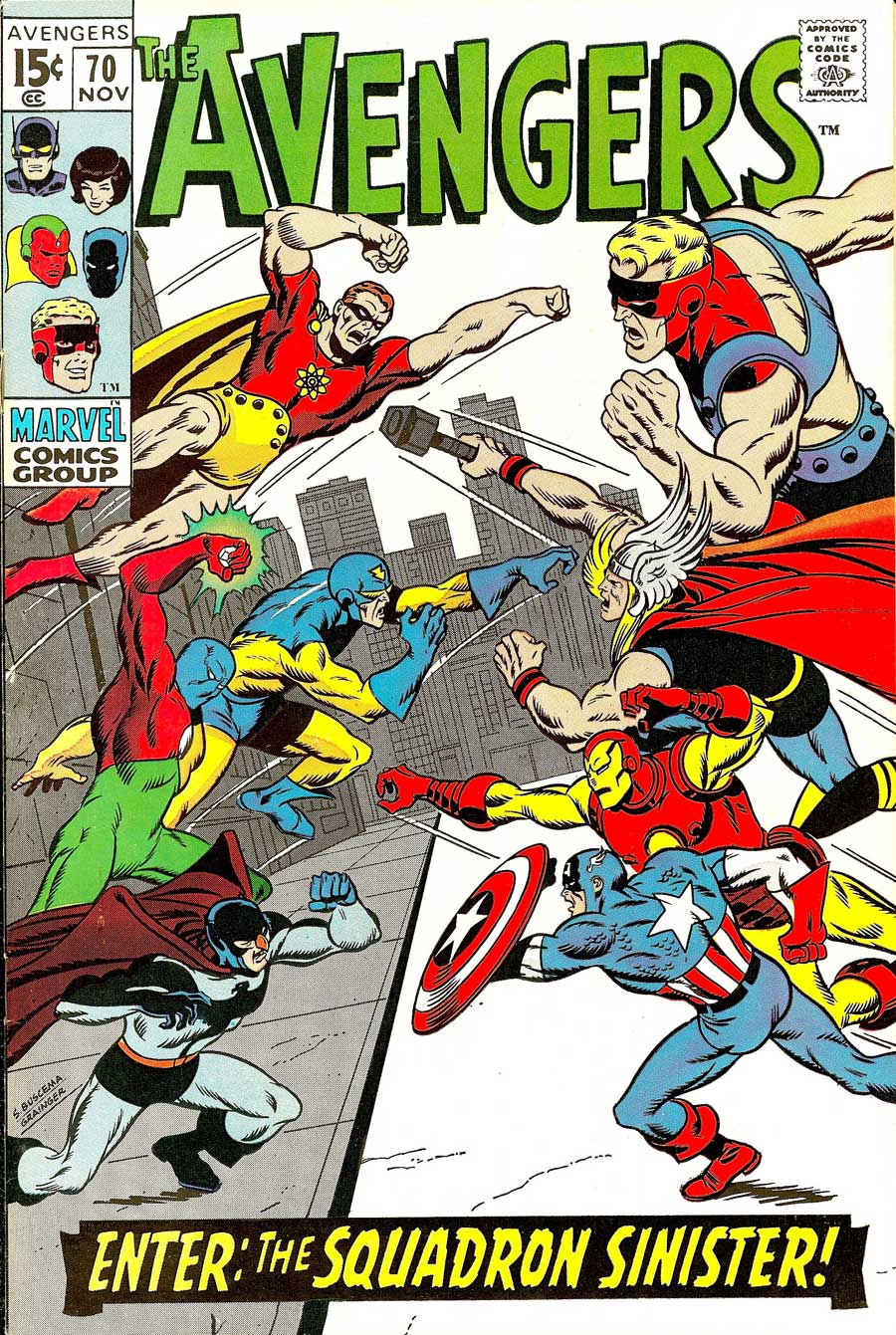 Avengers #70 with the Squadron Sinister