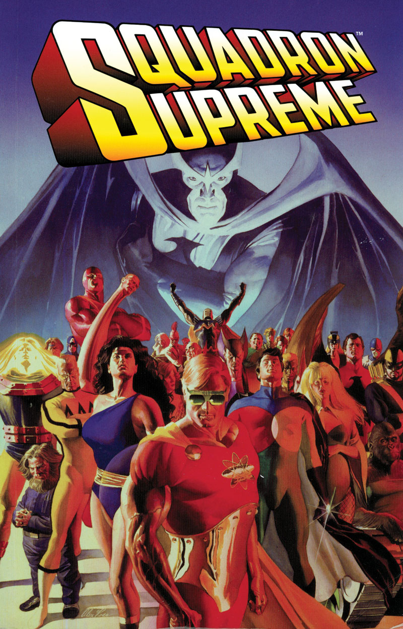 Squadron Supreme trade paperback cover by Alex Ross
