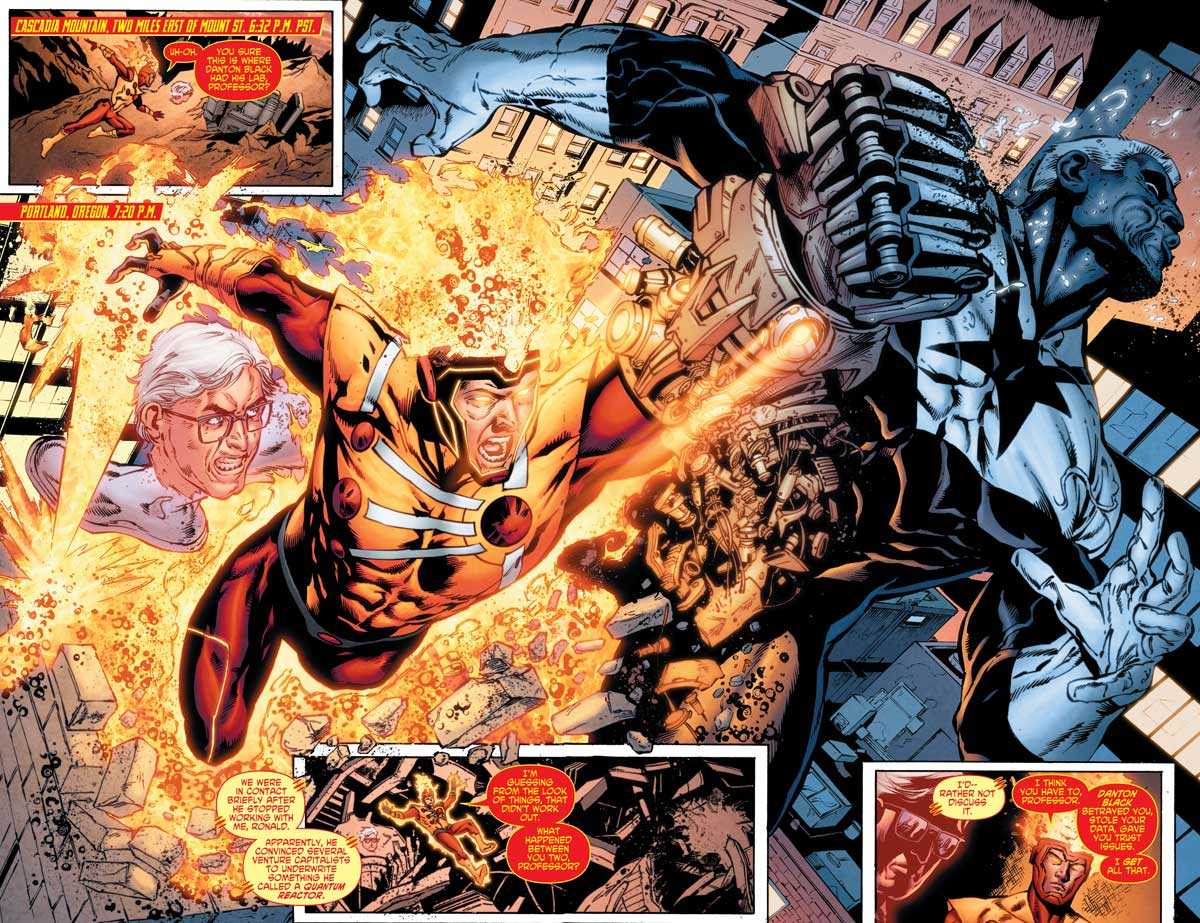 Firestorm in Legends of Tomorrow #3 by Gerry Conway, Eduardo Pansica, Rob Hunter, and more