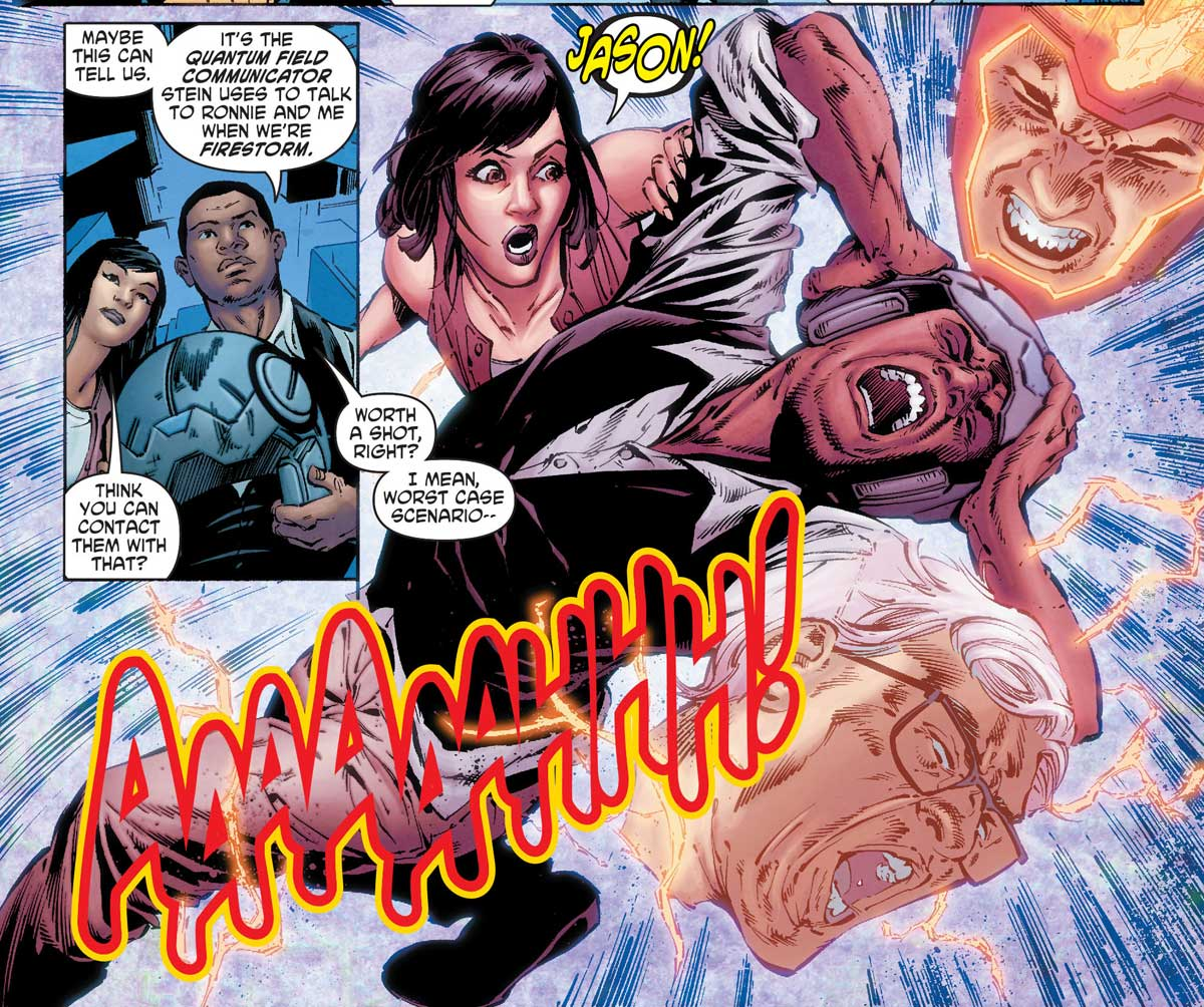 Firestorm in Legends of Tomorrow #4 by Gerry Conway, Eduardo Pansica, Rob Hunter, and more