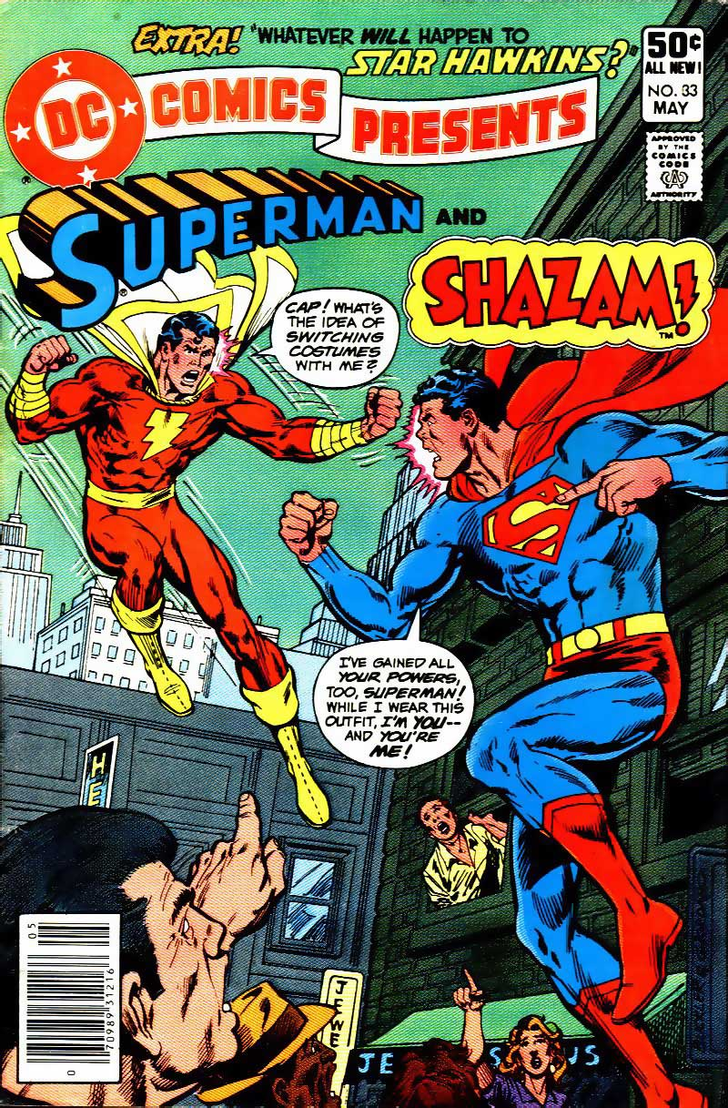 DC Comics Presents #33 cover with Superman and Captain Marvel Shazam by Rich Buckler and Dick Giordano