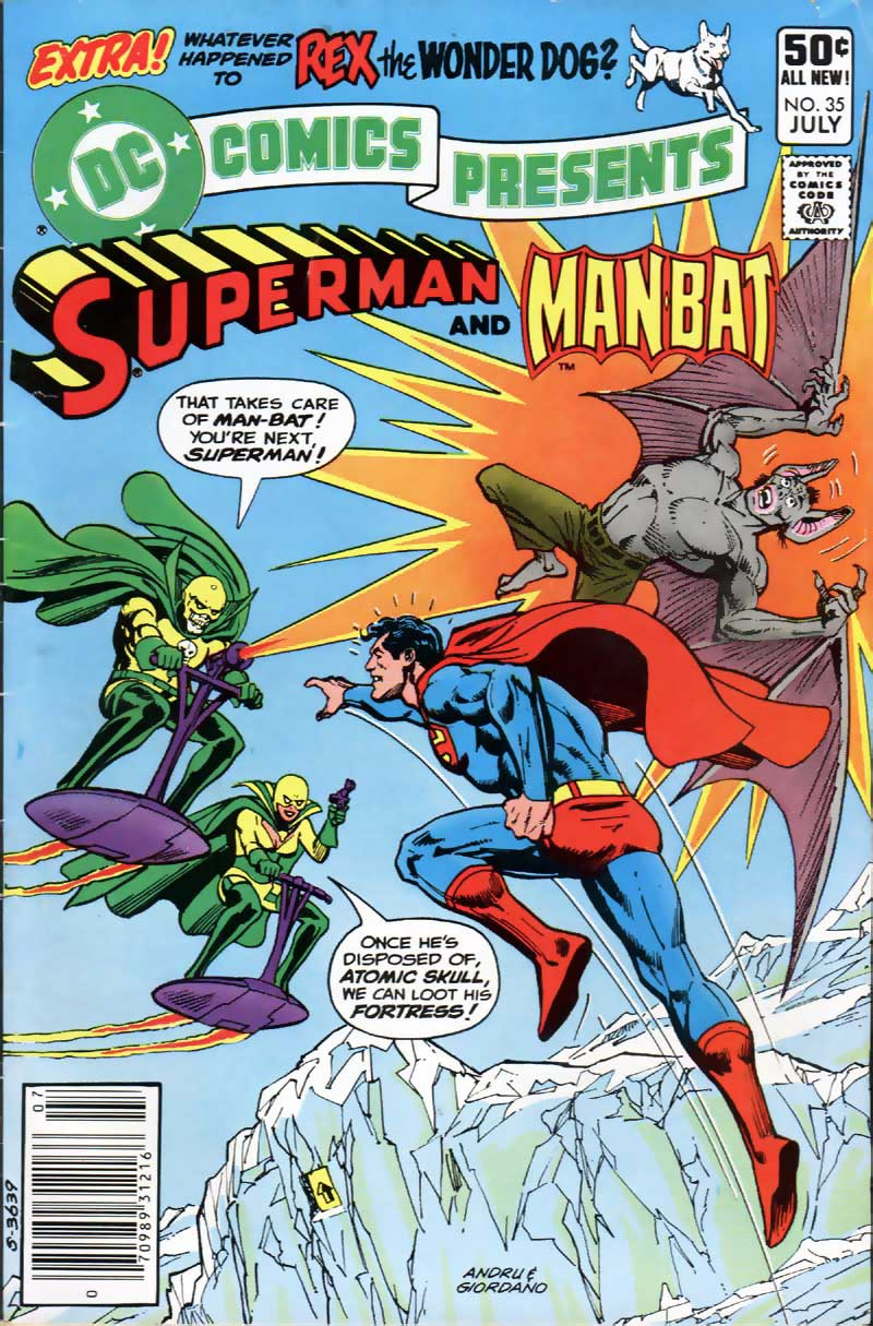 DC Comics Presents #35 cover with Superman and Man-Bat by Ross Andru and Dick Giordano