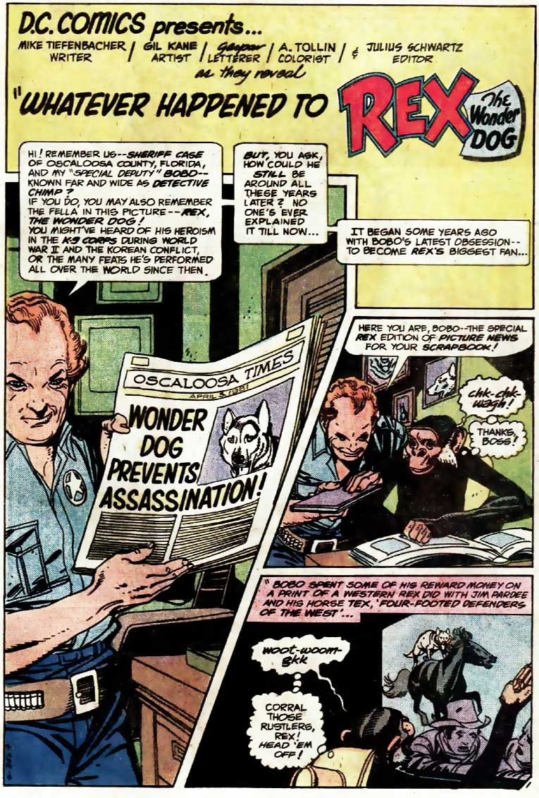 DC Comics Presents #35 starring Rex the Wonder Dog and Detective Chimp by Mike Tiefenbacher, Gil Kane and more!