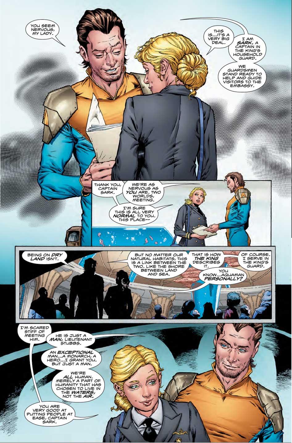 Aquaman #1 by Dan Abnett, Brad Walker, Andrew Hennessey, Gabe Eltaeb, and more