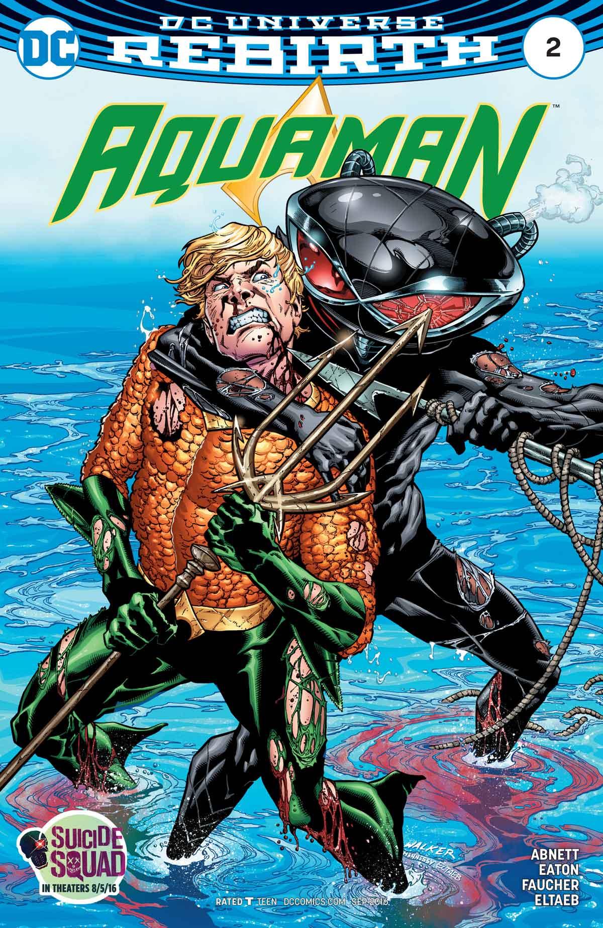 Aquaman #2 by Dan Abnett, Scot Eaton, Wayne Faucher, Gabe Eltaeb, and more