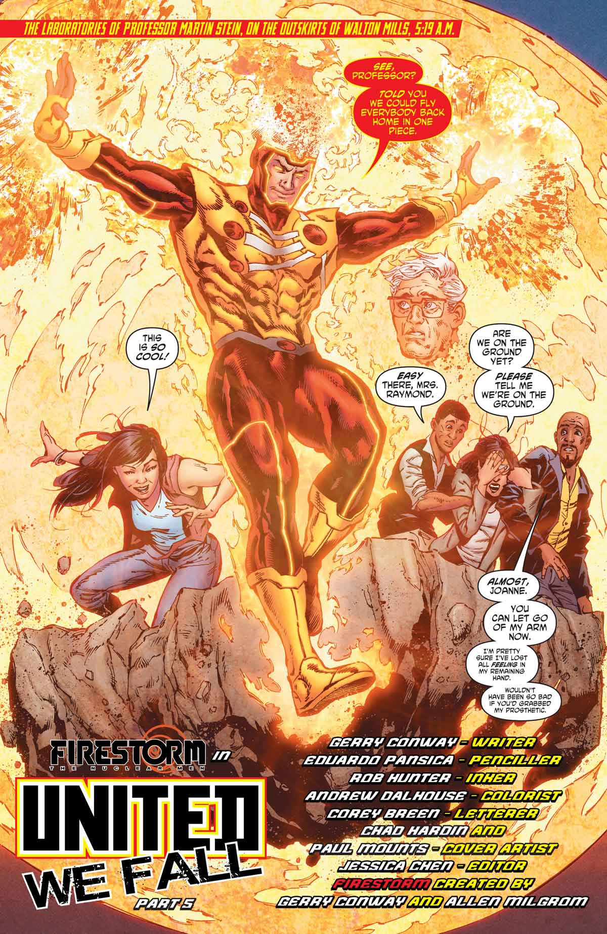 Firestorm in Legends of Tomorrow #5 by Gerry Conway, Eduardo Pansica, Rob Hunter, and more