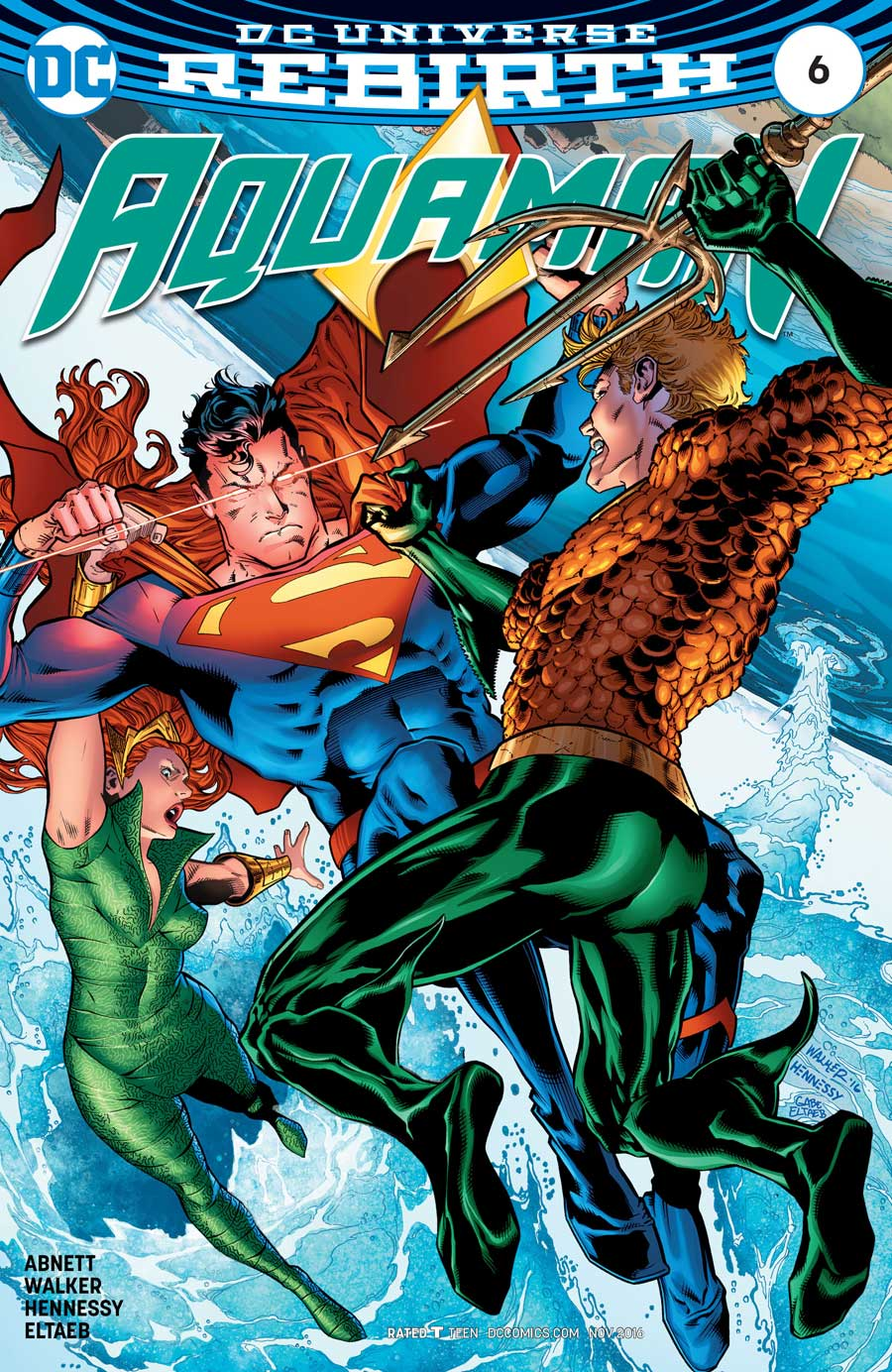 Aquaman #6 by Dan Abnett, Brad Walker and Andrew Hennessey