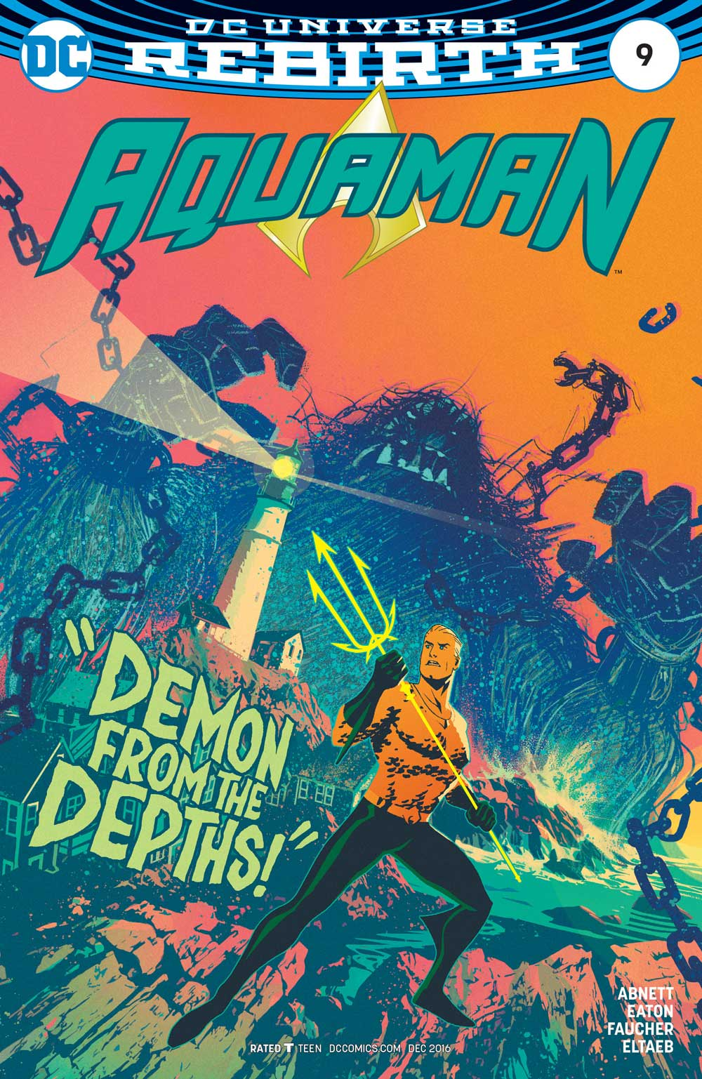 Aquaman #9 variant cover by Joshua Middleton
