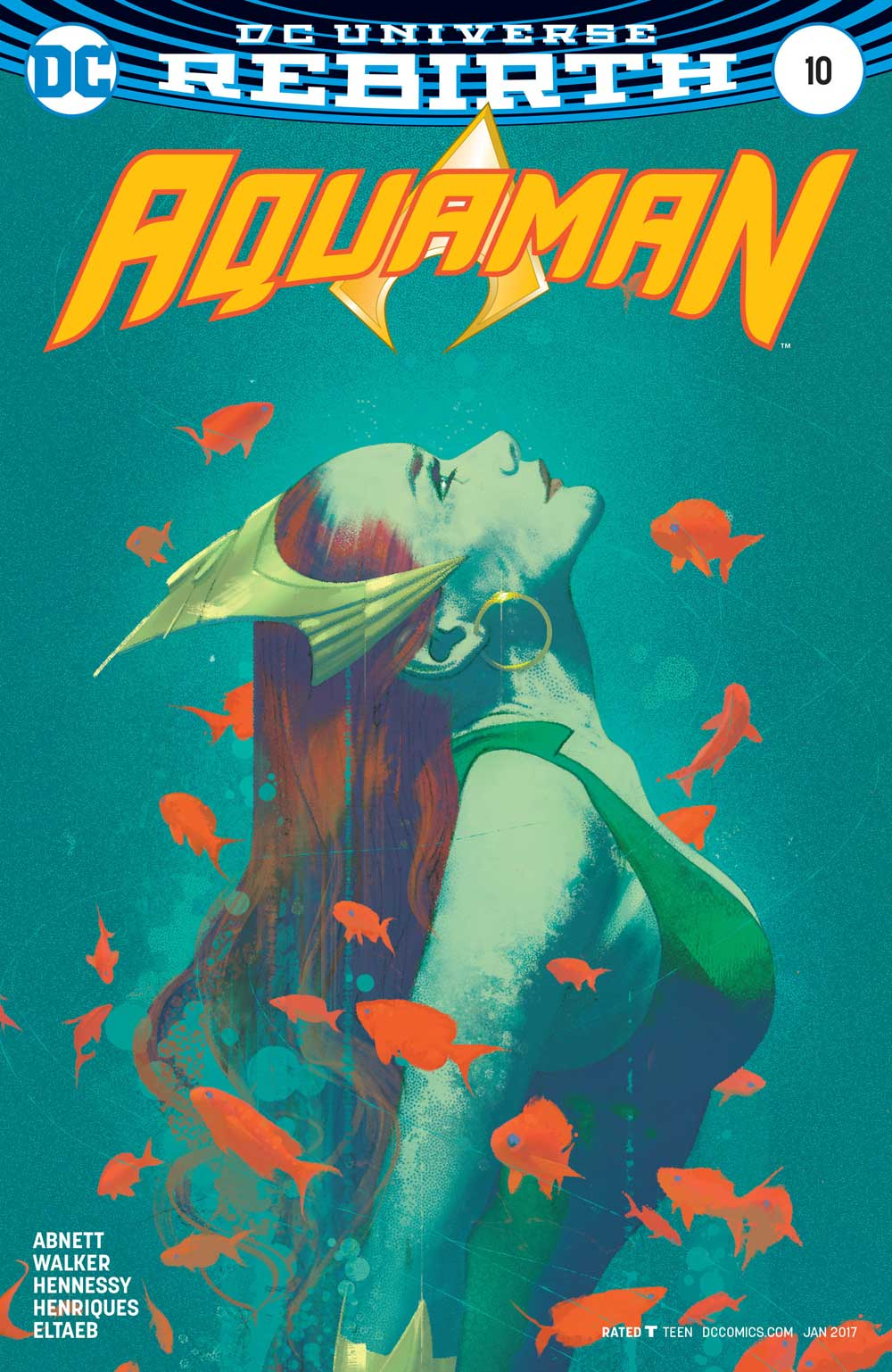 Aquaman #10 variant cover by Joshua Middleton