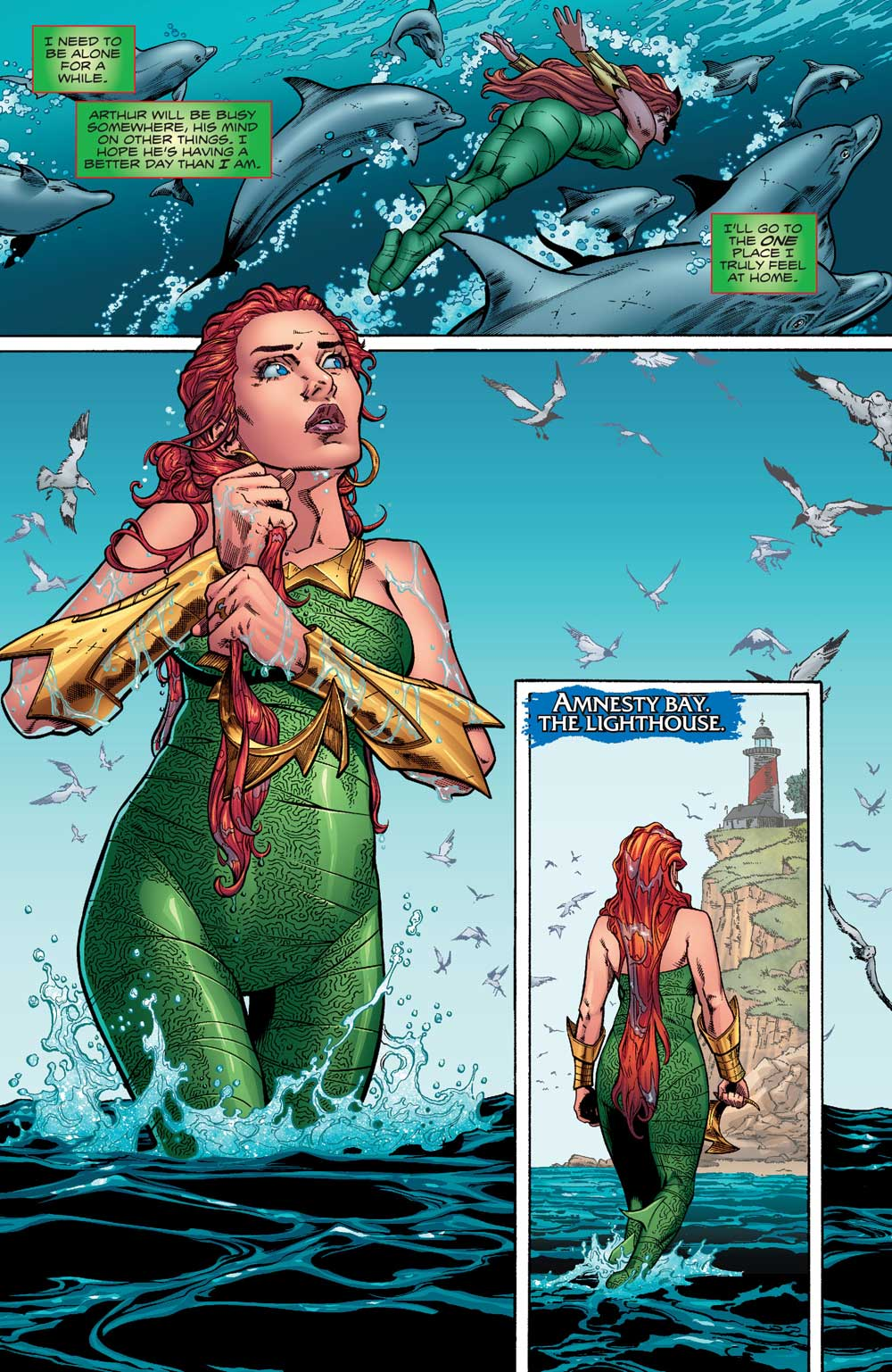 Aquaman #10 by Dan Abnett, Brad Walker, Andrew Hennessy, and Gabe Eltaeb