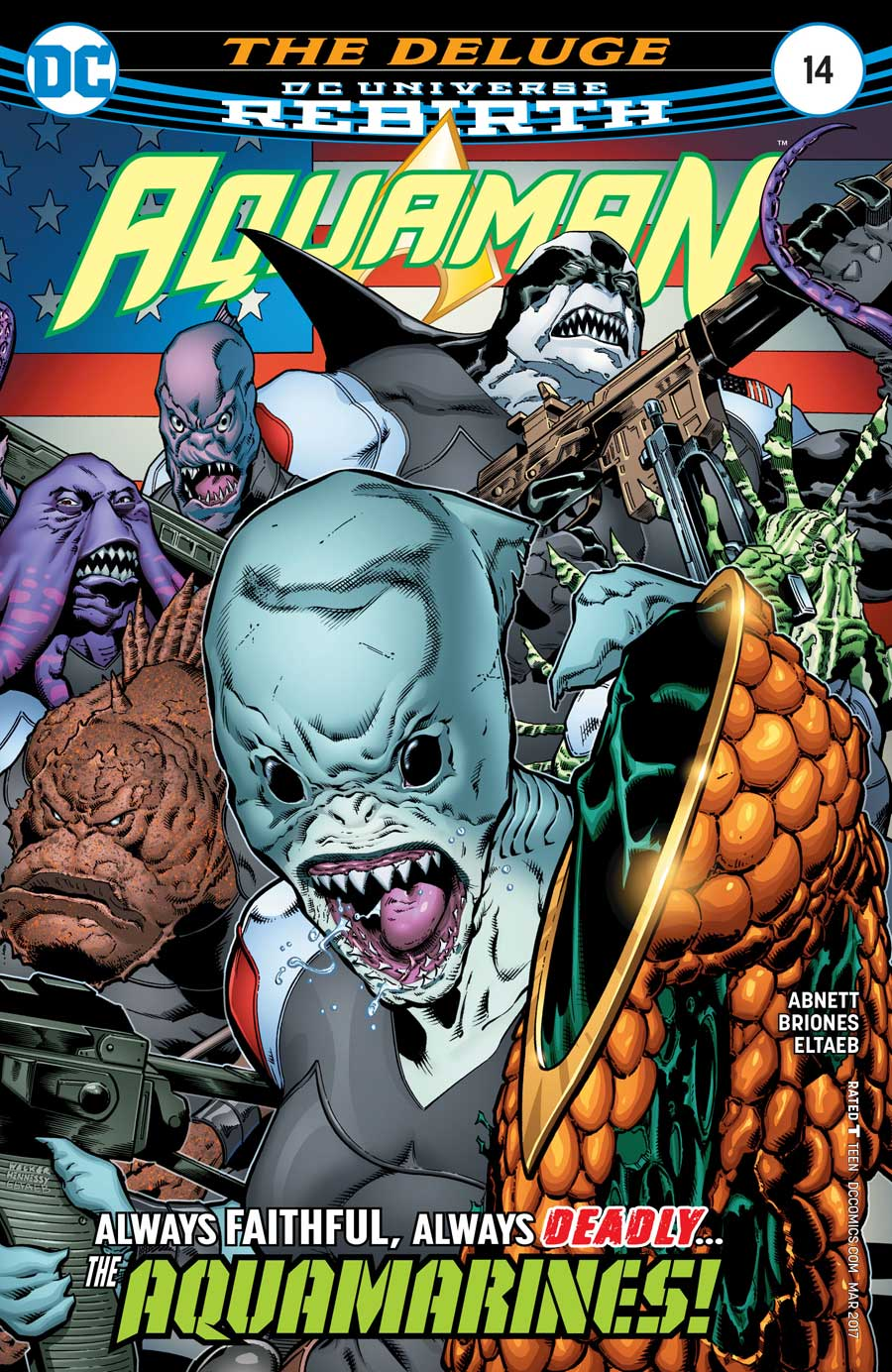 AQUAMAN #14 by Dan Abnett and Philippe Briones