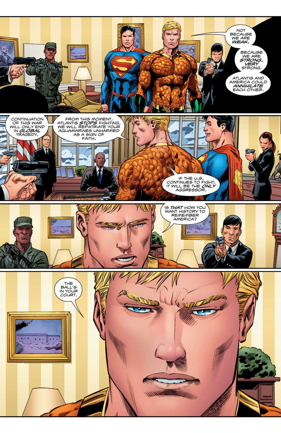 AQUAMAN #15 by Dan Abnett, Philippe Briones and Wayne Faucher