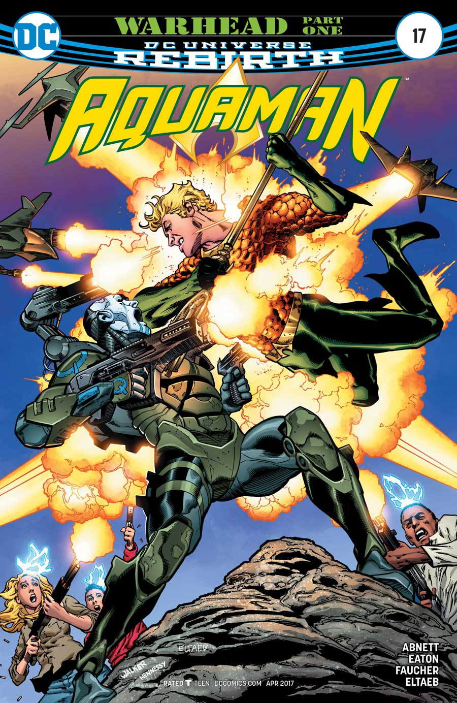 AQUAMAN #17 by Dan Abnett, Scot Eaton and Wayne Faucher