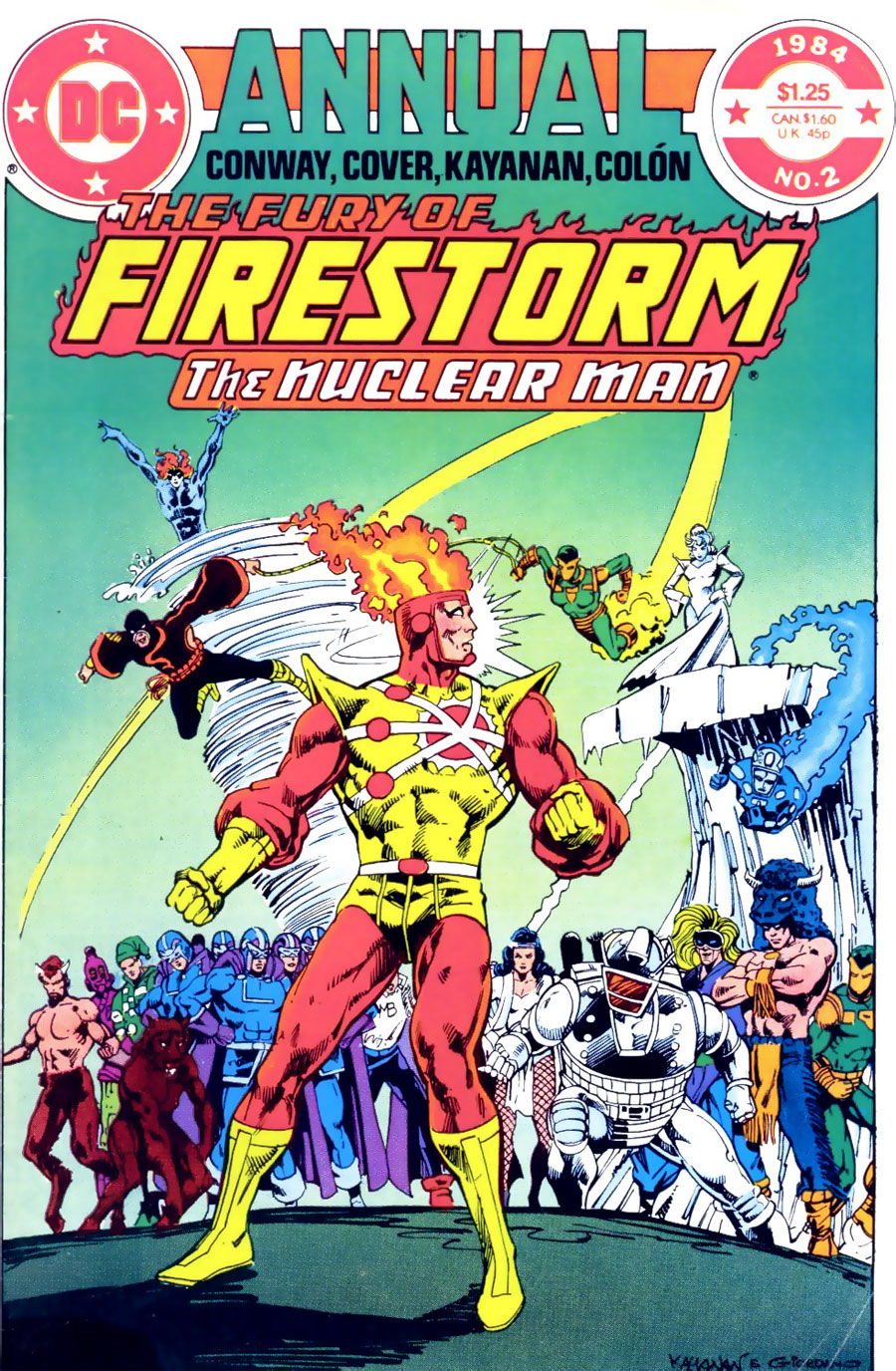 FURY OF FIRESTORM ANNUAL (Classic) #2 cover by Rafael Kayanan and Dick Giordano