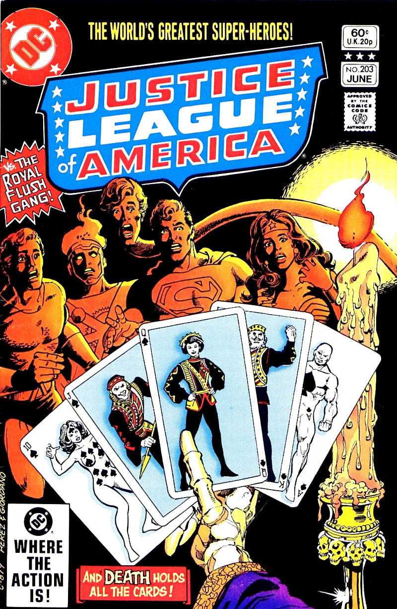 Justice League of America #203 cover by George Perez