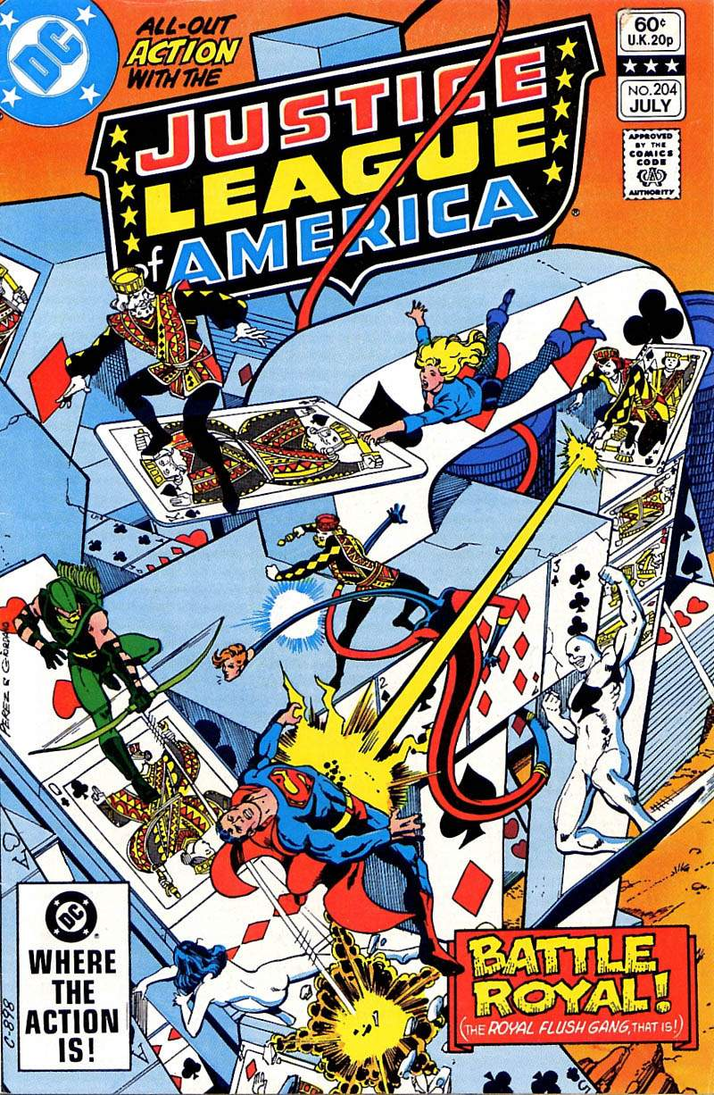 Justice League of America #204 cover by George Perez