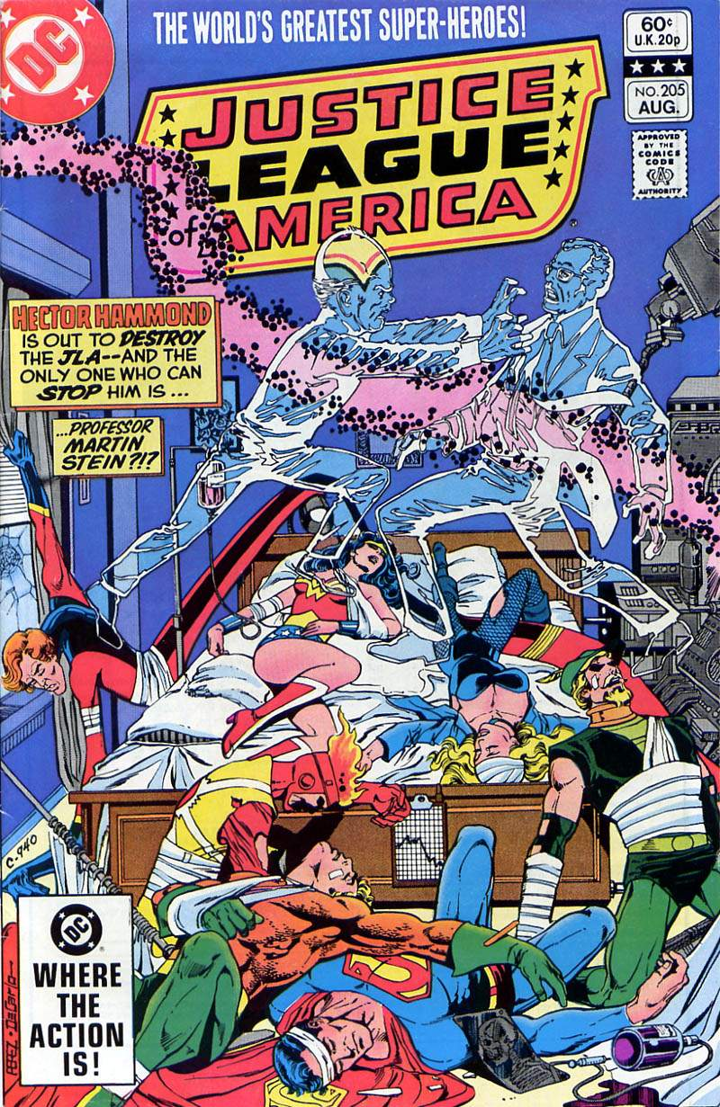 Justice League of America #205 cover by George Perez