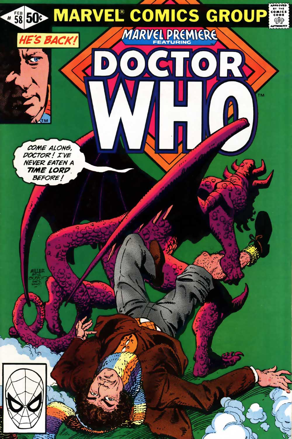 Marvel Premiere #58 featuring DOCTOR WHO! Cover by Frank Miller and Terry Austin!