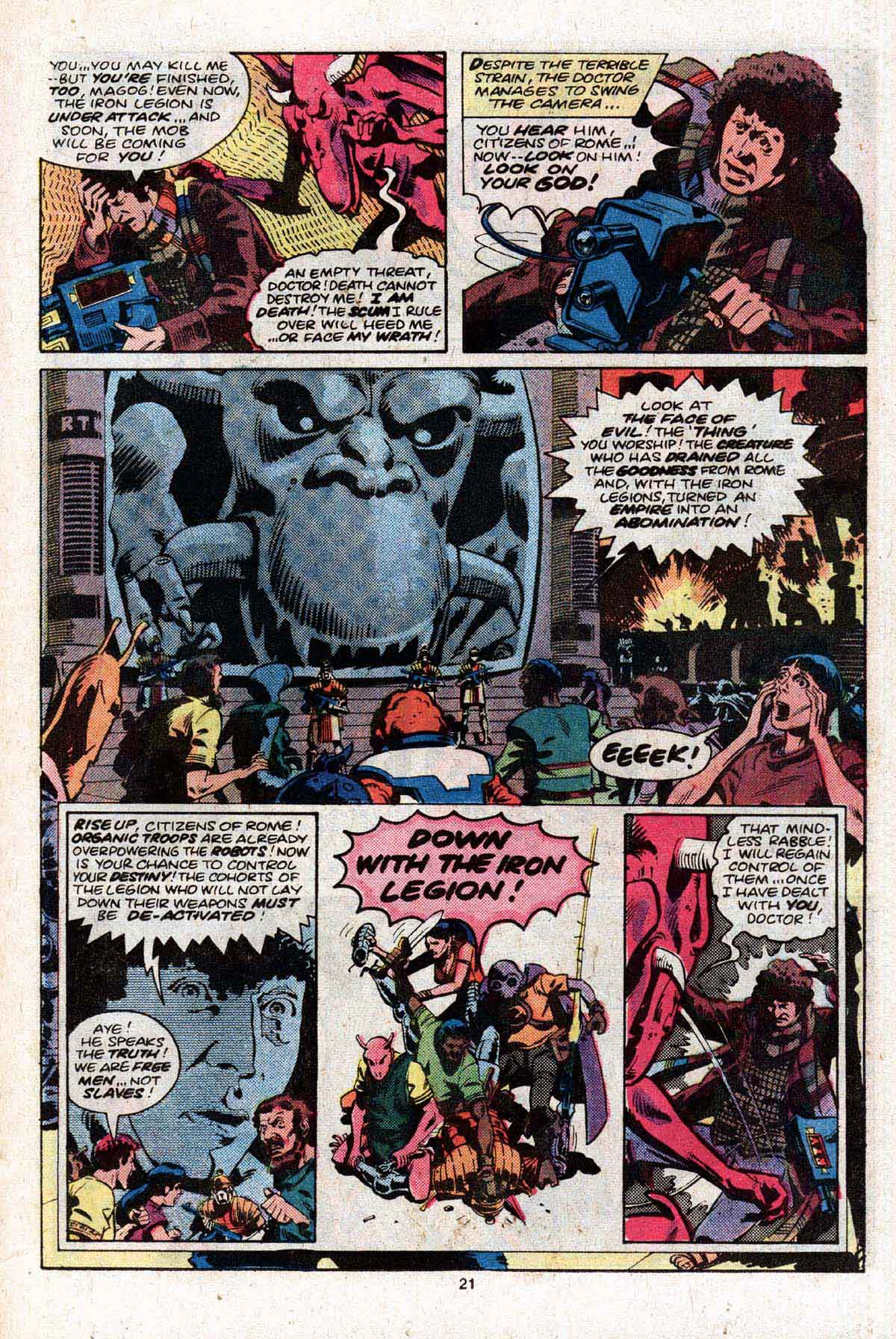 Marvel Premiere #58 featuring Doctor Who and the Iron Legion Book Two by Pat Mills & Dave Gibbons!