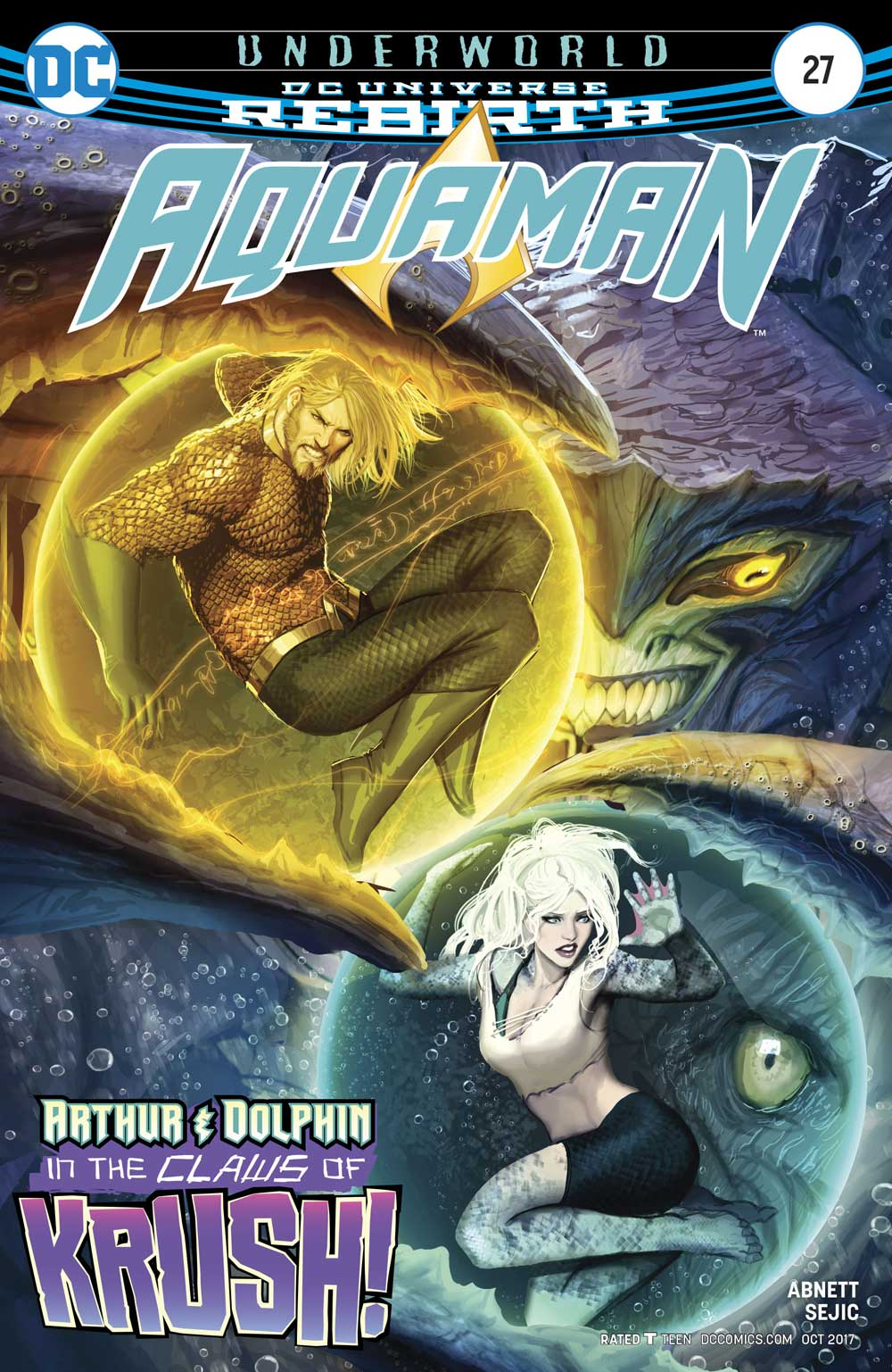 Aquaman #27 cover by Stjepan Sejic