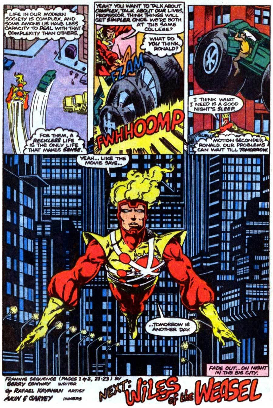 Fury of Firestorm #37 by Gerry Conway, Joey Cavalieri, Rafael Kayanan, and Alexi Nino