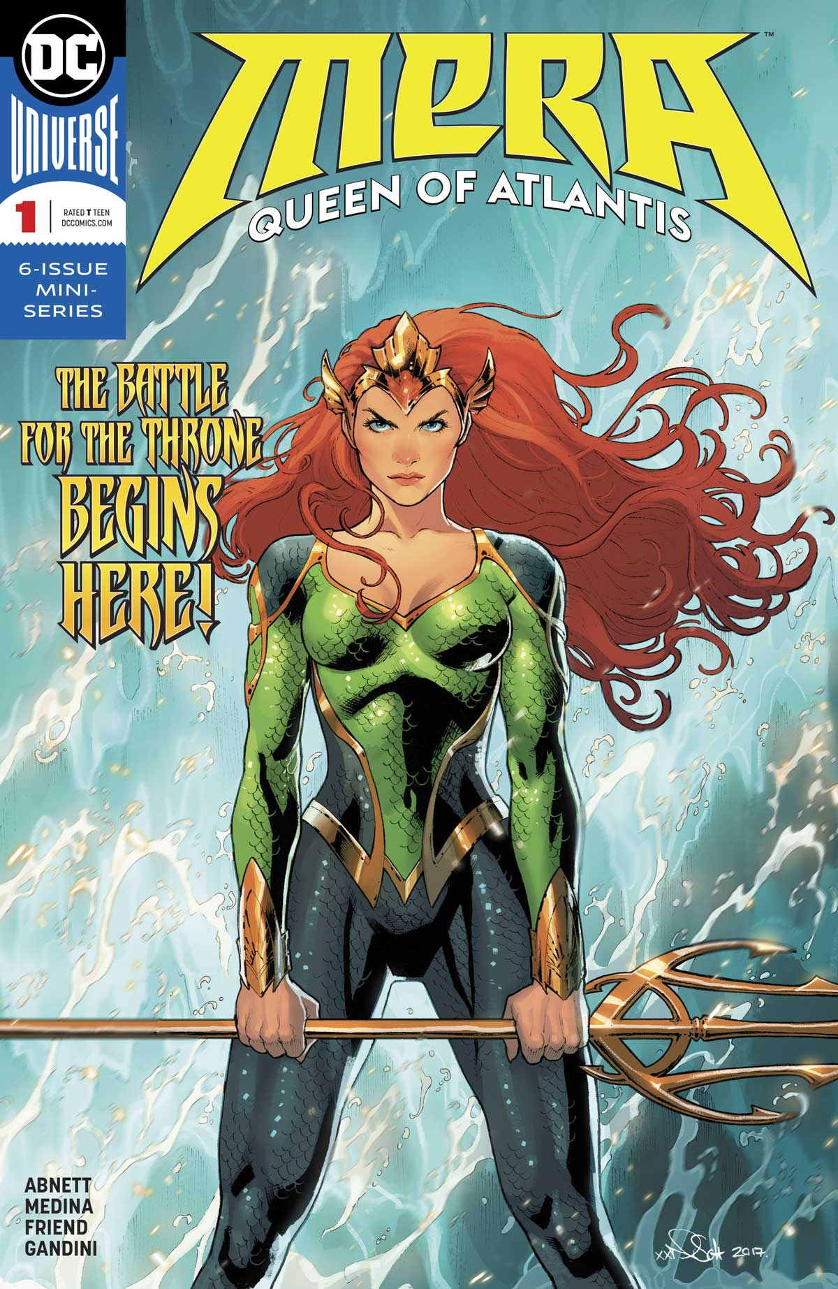 MERA QUEEN OF ATLANTIS #1 cover by Nicola Scott and Romulo Fajardo