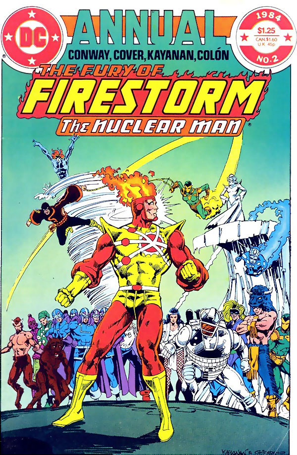 Fury of Firestorm Annual #2 (1984) cover by Rafael Kayanan and Dick Giordano
