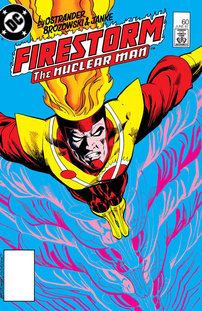 Fury of Firestorm #60 (1987) cover by Joe Brozowski and Dick Giordano