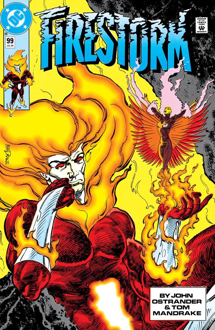 Firestorm #99 (1990) cover by Tom Mandrake