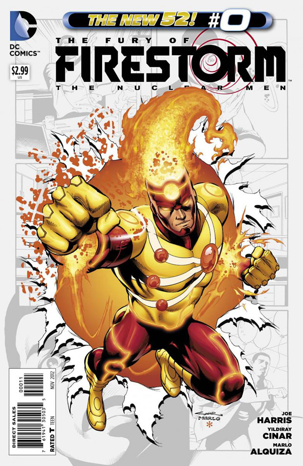 Fury of Firestorm The Nuclear Men #0 (2012) cover by Yildiray Cinar & Marlo Alquiza