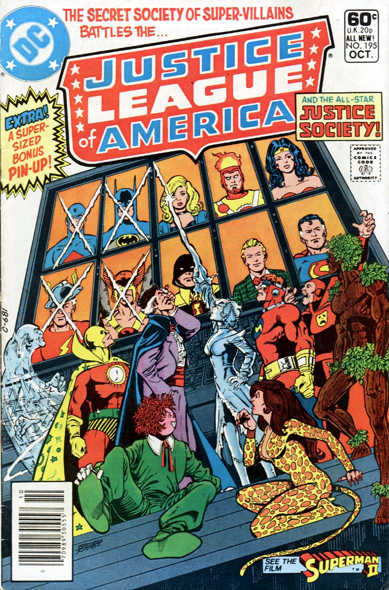Justice League of America #195 cover by George Perez