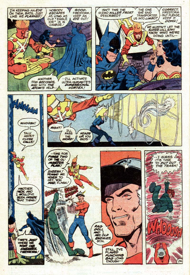 Justice League of America #197 by Gerry Conway, George Perez, Keith Pollard, and Romeo Tanghal
