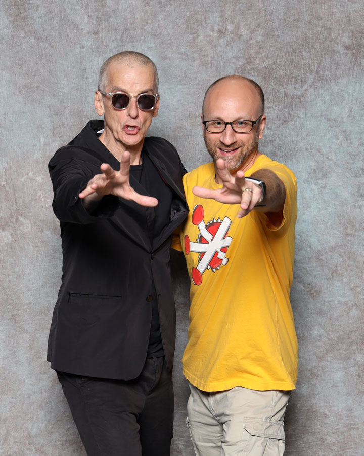 Peter Capaldi asked to have his photo taken with Shag!
