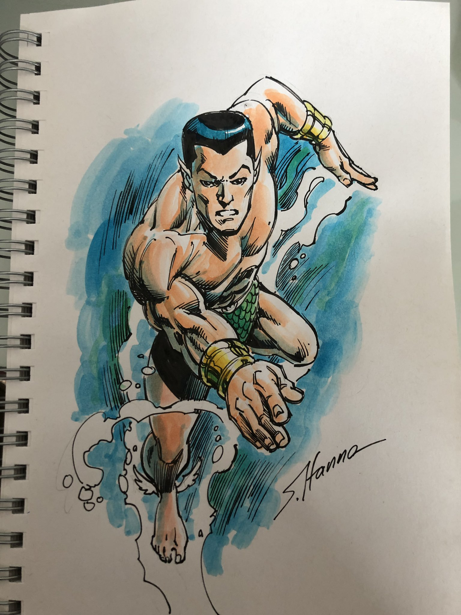 Namor by Scott Hanna (for Ryan)