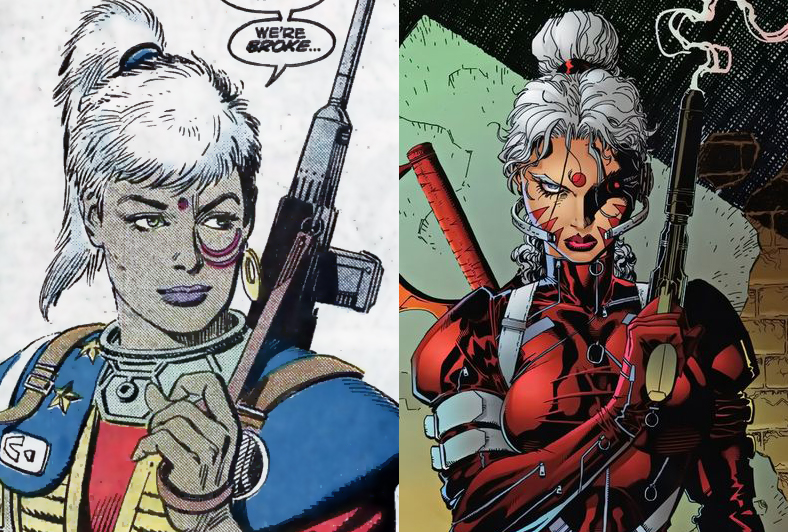 Separated at birth? Dart from ATARI FORCE (1983) and Zealot from WILDC.A.T.S (1992)?