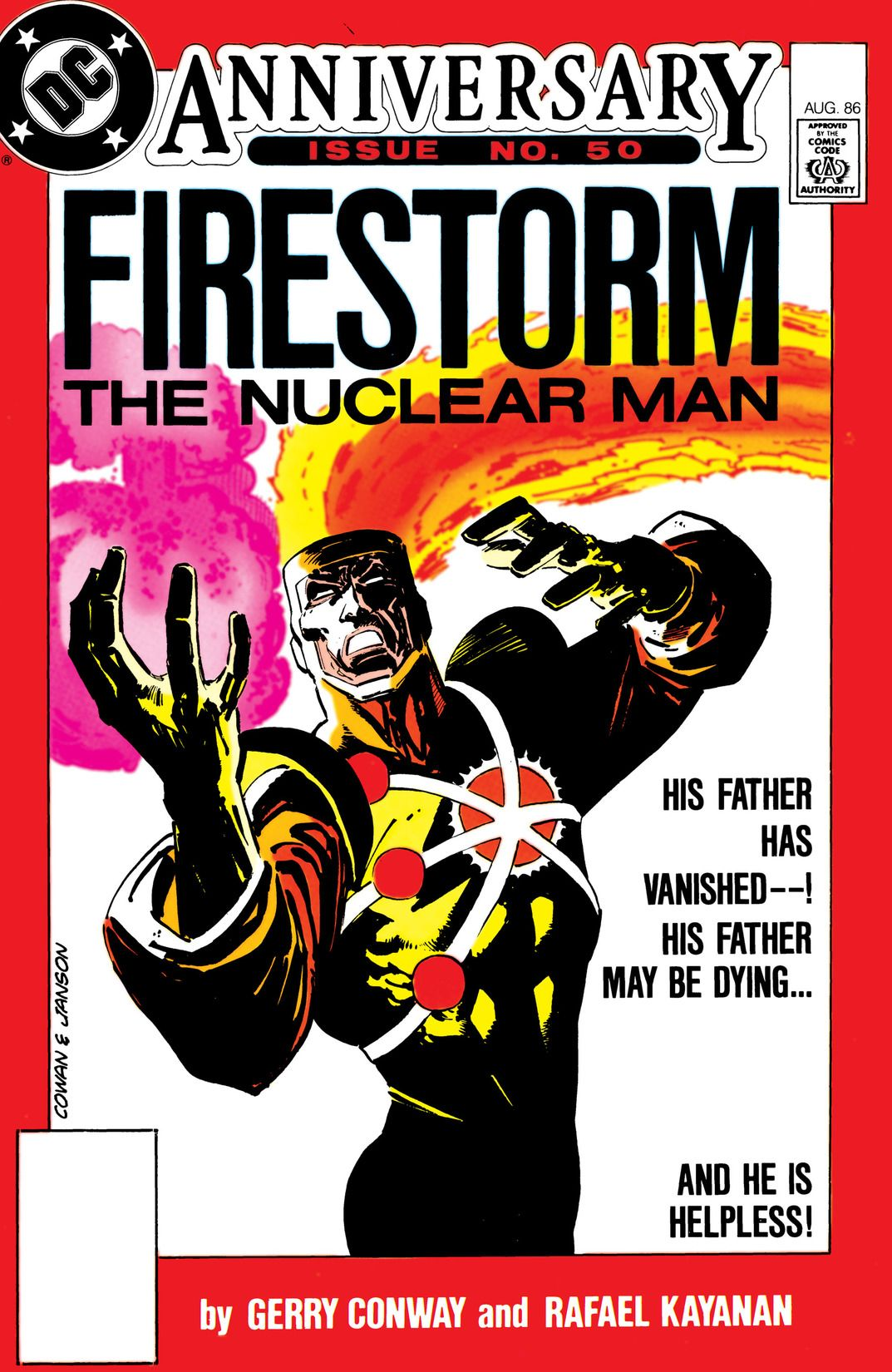 Fury of Firestorm #50 by Gerry Conway, Rafael Kayanan, Mike Machlan, Pablo Marcos and Rodin Rodriuez; cover by Denys Cowan & Klaus Janson