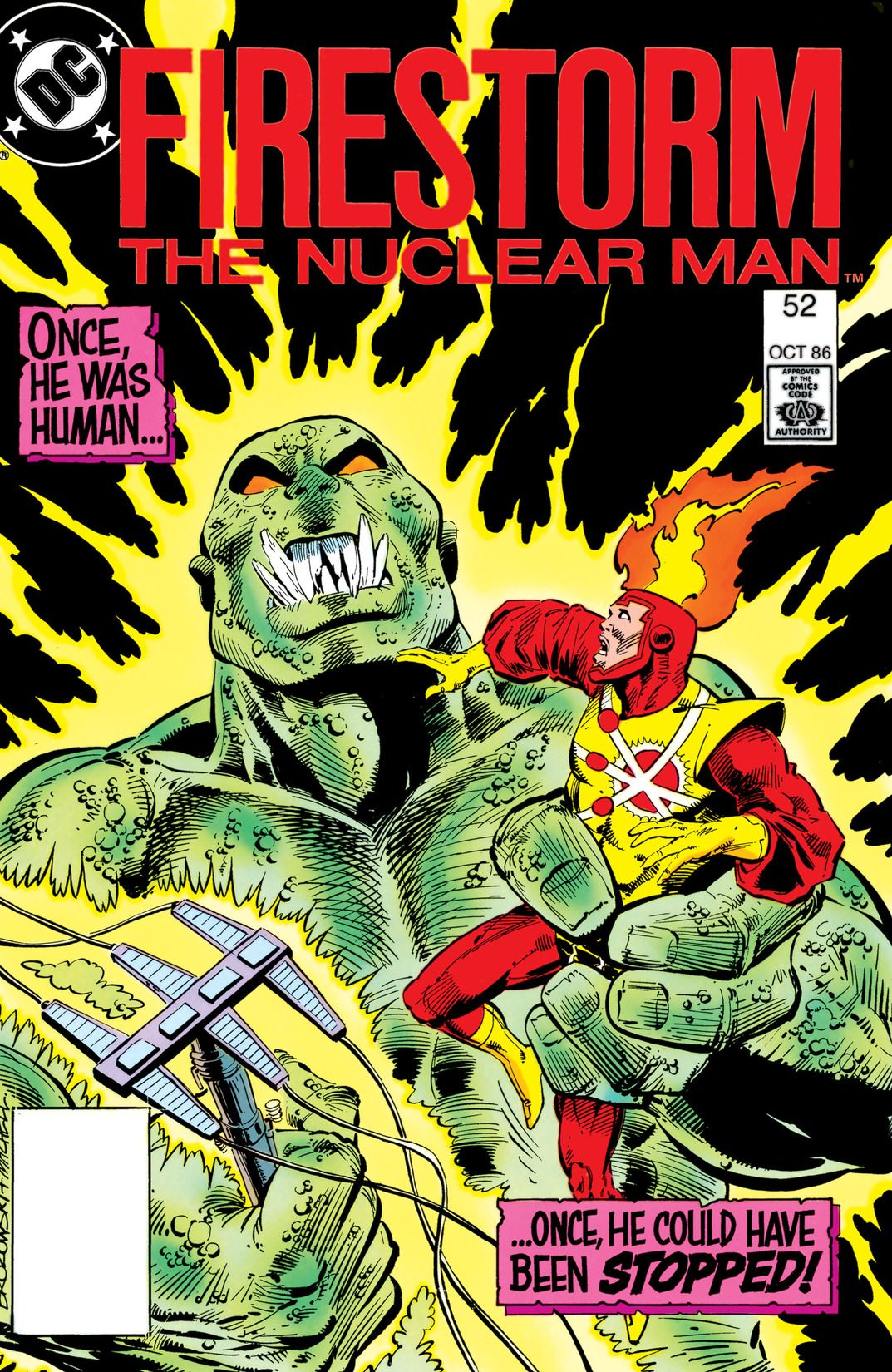 Fury of Firestorm #52 by Gerry Conway, Joe Brozowski and Steve Mitchell; cover by Joe Brozowski and Steve Mitchell