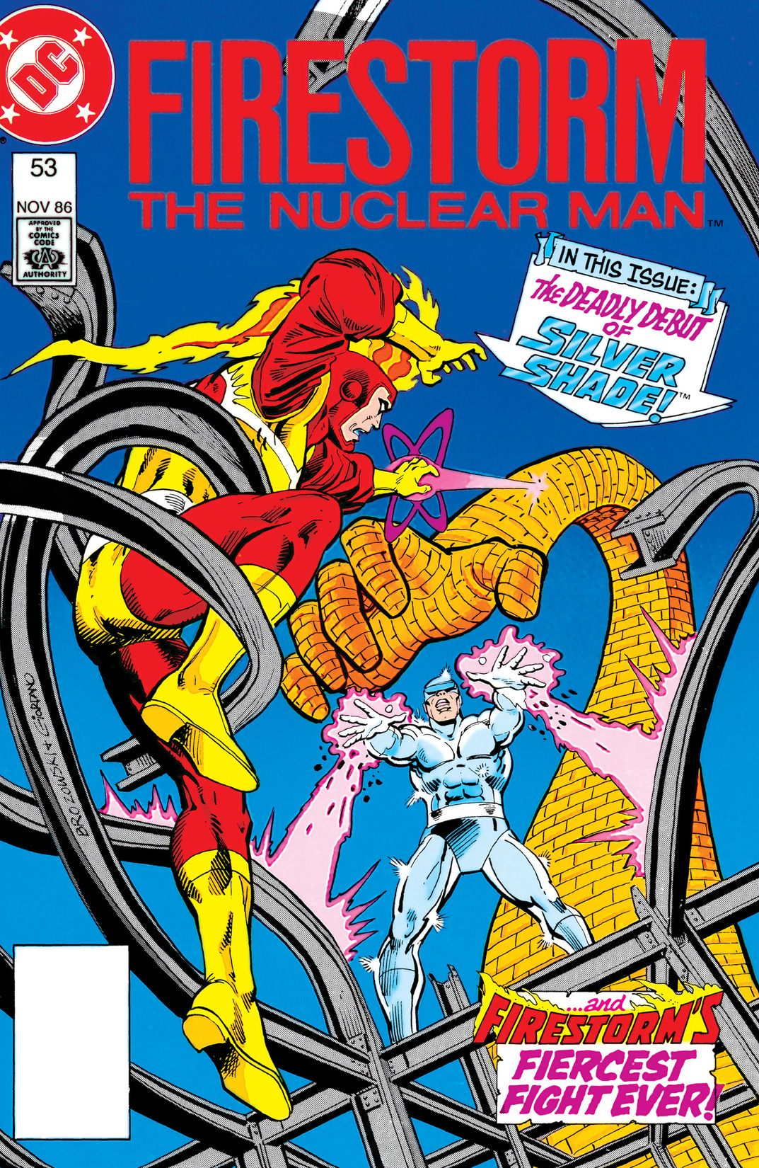 Fury of Firestorm #53 by Gerry Conway, Joe Brozowski and Steve Mitchell; cover by Joe Brozowski and Dick Giordano