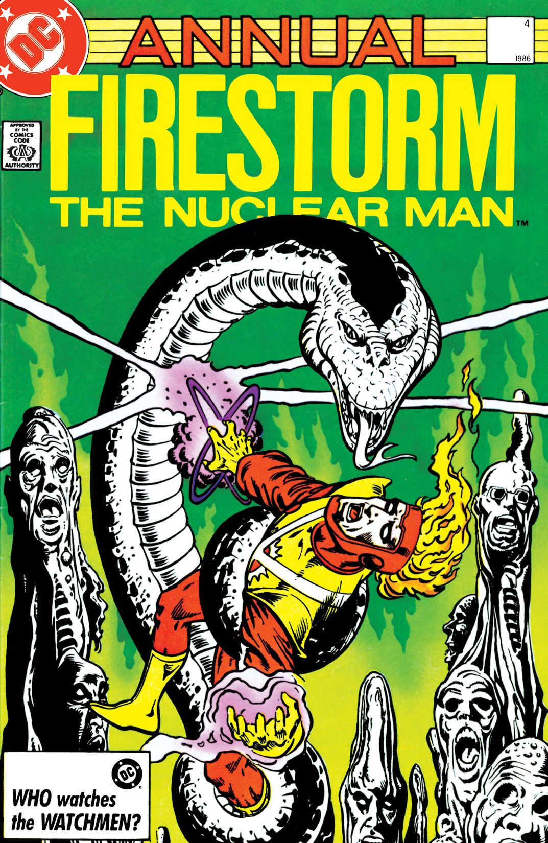 Fury of Firestorm Annual #4 by Gerry Conway, Rafael Kayanan, Dick Giordano, Gene Colan, Curt Swan, Martin King, Kieth Giffen, Al Migrom and Steve Mitchell; cover by Denys Cowan