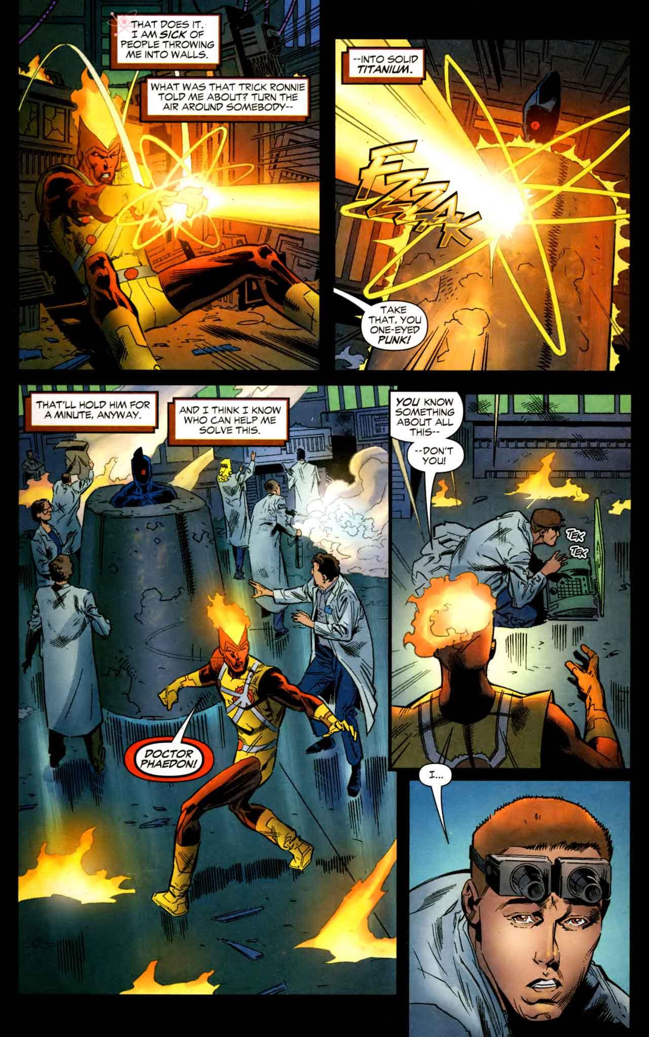 FIRESTORM #18 by Stuart Moore, Patrick Olliffe, Jamal Igle, Simon Coleby, and Rob Stull