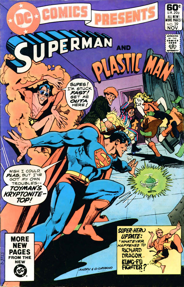 DC COMICS PRESENTS #39 featuring Superman and Plastic Man by Martin Pasko, Joe Staton and Bob Smith