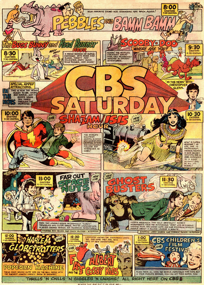 Saturday Morning Fever Podcast - comic book ad 1975 CBS cartoons