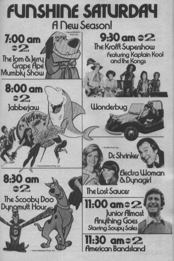 Saturday Morning Fever Podcast - ad 1976 ABC cartoons